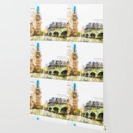 Big Ben, London, Aquarell Wallpaper
