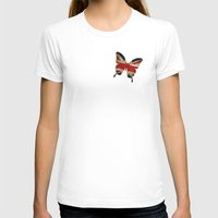 union jack T-shirts featuring butterfly Union and Jack by Steffi Louis