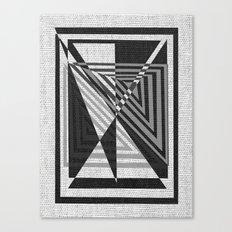 geometric gray and black pattern Canvas Print