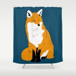 Red Fox (Dark Background) Shower Curtain
