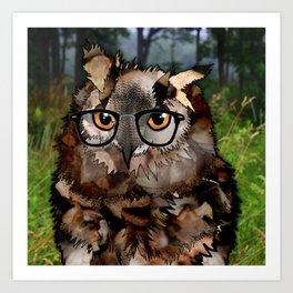 Owl's Good in the Woods Art Print
