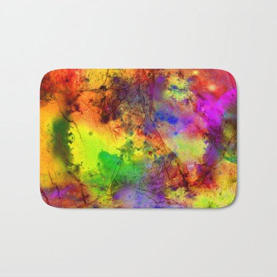 Colorful marble b Bath Mat