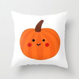 Cute Kawaii Pumpkin Throw Pillow