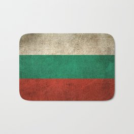 Old and Worn Distressed Vintage Flag of Bulgaria Bath Mat
