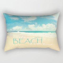Beach time Rectangular Pillow