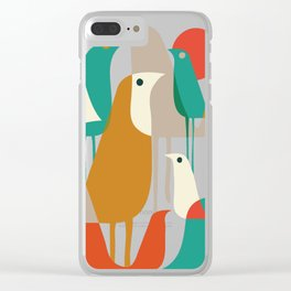 Flock of Birds Clear iPhone Case