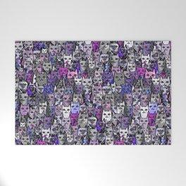 Ultraviolet Gemstone Cats Welcome Mat