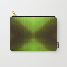 Forest Green Pixels Carry-All Pouch