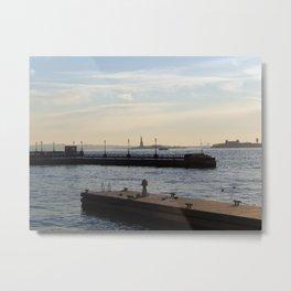 Hudson River meets Liberty Statue Metal Print