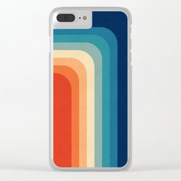 Retro 70s Color Palette III Clear iPhone Case