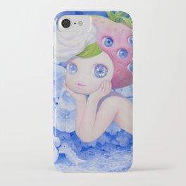 'Berry', cute strawberry fruit art iPhone Case