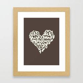 ABC heart Framed Art Print