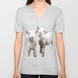 Two sheep bywhacky Unisex V-Neck