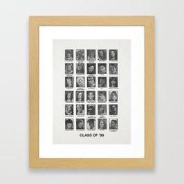 Degrassi Jr High - Class of 88 - Yearbook Art Framed Art Print