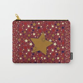 Gold Star Blue Carry-All Pouch