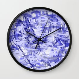 Light Blue Violet Abstract Wall Clock