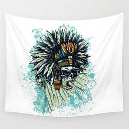 AZTEC WARRIOR SKULL SQUARE Wall Tapestry
