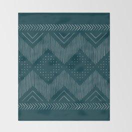 Teal Tribal Throw Blanket