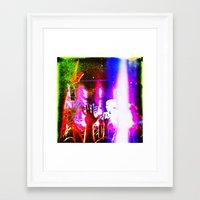 da vinci Framed Art Prints featuring leonardo da vinci -  by stoneRage