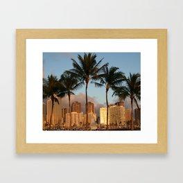 Honolulu Hawaii  Framed Art Print