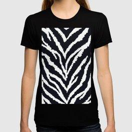 Zebra fur texture T-shirt