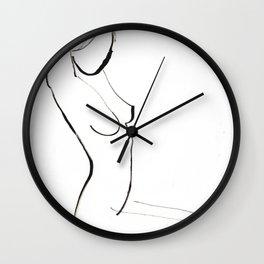 Nude Model Drawing Wall Clock