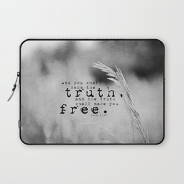 Truth Shall Make You Free John 8:32 Laptop Sleeve