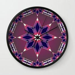 Morning Star Circle (Purple) Wall Clock