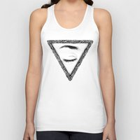 sleep Tank Tops featuring Sleep by Tom Kitchen