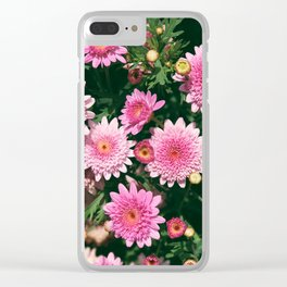 Pink Mums Clear iPhone Case