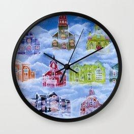 Heavenly Churches Wall Clock