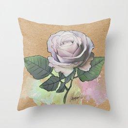 Memory lane rose Throw Pillow