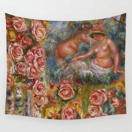 """Auguste Renoir """"Étude De Nus Et De Fleurs"""" Wall Tapestry"""