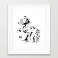 stevie nicks Framed Art Prints featuring Trois Stevie by Lynette K.