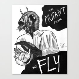 The Mutant from the Fly Canvas Print