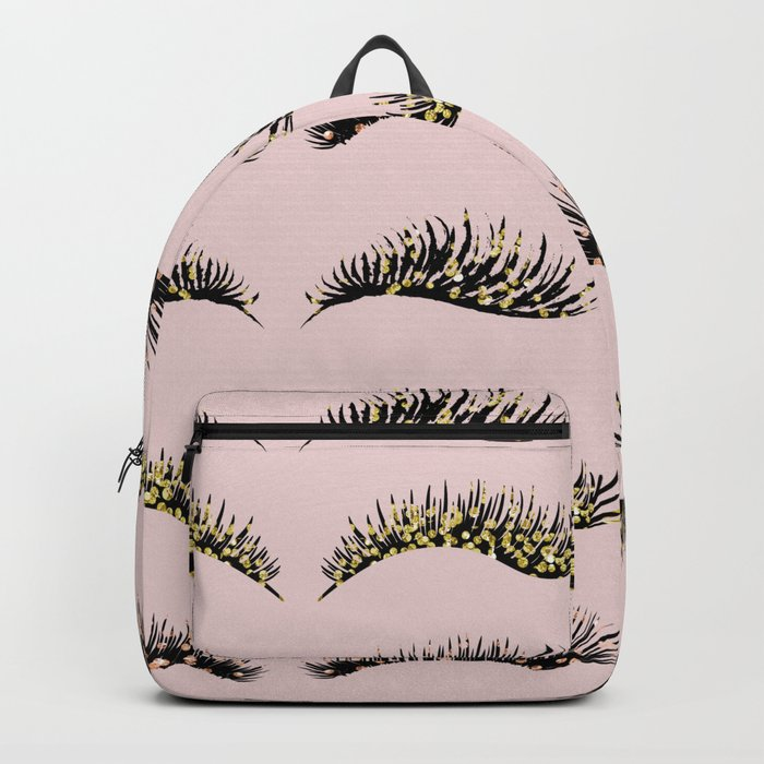 Blush pink - glam lash design Backpack