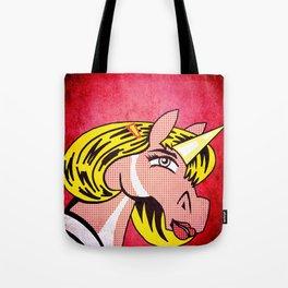 Unicorn Girl With Barrette Tote Bag