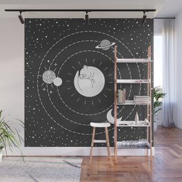 The Space Cat Wall Mural