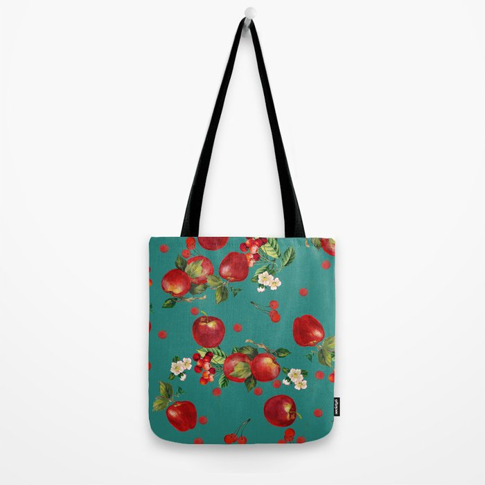 cherries and apples Tote Bag
