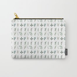 Watercolor Plant Pattern Carry-All Pouch