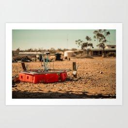 Paddleboat Deserted in the Desert Art Print