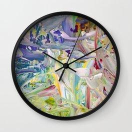 Abstracted Spring Iris Wall Clock
