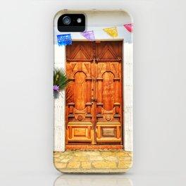 Door, Holy Week 2017 (San Cristóbal de las Casas, Chiapas, Mexico) iPhone Case
