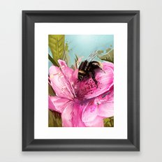 Bee on flower 17 Framed Art Print
