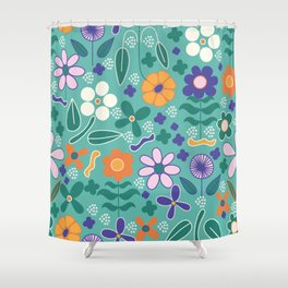 Candy Flowers Collection Shower Curtain