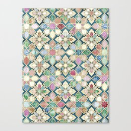 Muted Moroccan Mosaic Tiles Canvas Print