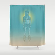 Rollerbabe Shower Curtain