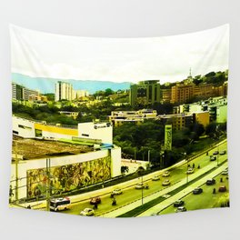 A warm city. Wall Tapestry