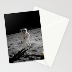 Astronaut Buzz Aldrin Apollo 11 original Photograph 1969 Standing on The Moon Print Stationery Cards