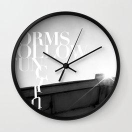 from follow fun Wall Clock
